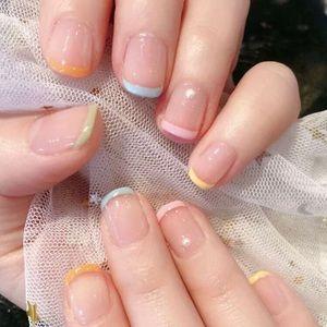 HP🌈🆕 Short Pastel Tip Press On Nails